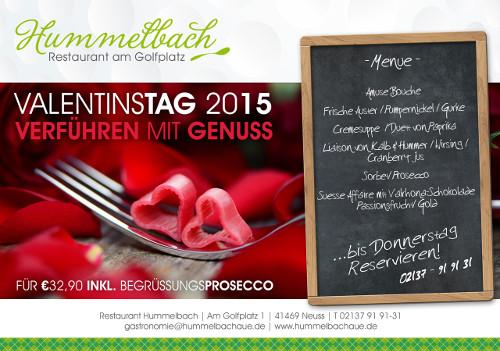Aktion zum Valentinstag im Restaurant Hummelbach
